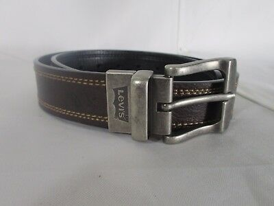 Levi's reversible Brown Black Leather Belt Size 30 - 32