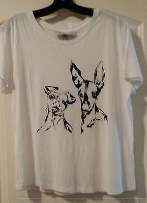 ~NWT Kendall & Kylie size Small T-shirt with Italian Greyhounds Super CUTE!
