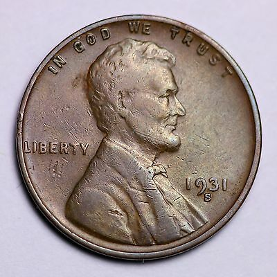 1931-S Lincoln Wheat Cent Penny LOWEST PRICES ON THE BAY!  FREE SHIPPING!
