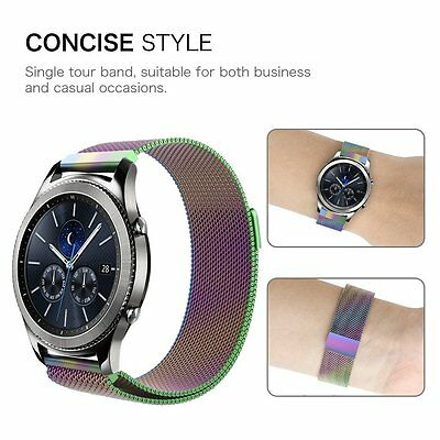 Samsung Gear S3 SM-R760/770 Watch Band Stainless Steel Wristband Strap -Colorful