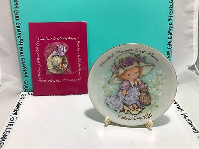 Avon Cherished Moments Last Forever Mother's Day Collectable Plate 1981 + Pin !