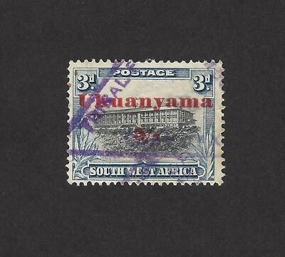 South West Africa Tribal Tax c.1940 5/- on 3d ovpt UKUANYAMA Not listed Barefoot