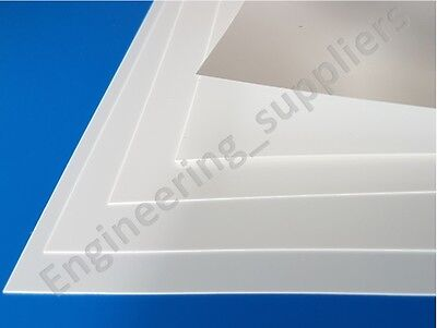 White Plasticard Sheet Matt/Matt High Impact Polystyrene HIPS 0.25 0.50 0.75 1mm