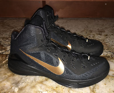 323163272f18 NIKE Hyperdunk 2014 Black Metallic Gold Basketball Shoes Sneakers NEW Mens  8.5 9