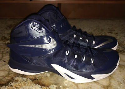 36b0318ed2117 NIKE LeBron Zoom Soldier VIII Basketball Shoes Sneakers Navy Blue NEW Mens  16.5