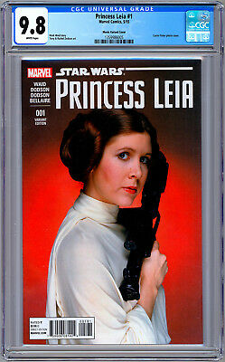 Star Wars: Princess Leia #1 Cgc 9.8 *Carrie Fisher* 1977 Actress Foto Cover 2015