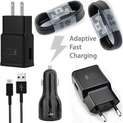 Black For Samsung Galaxy S8 Note 8 Type-C Cable USB Fast Car Charging / Charger