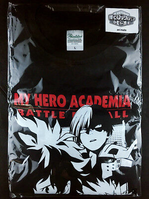 Boku no My Hero Academia T-shirt L Size Black official animate Limited New