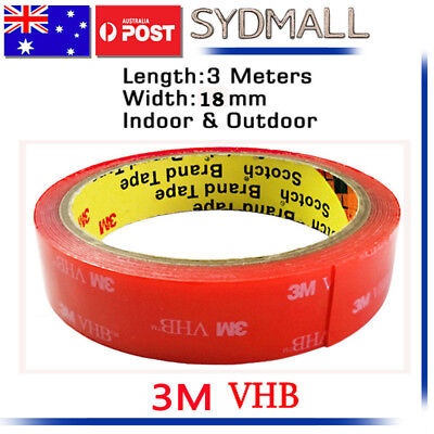 3M VHB Double-sided Clear Transparent Acrylic Adhesive Tape 18mmX3m AU