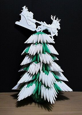 3D origami Christmas tree holiday decoration gift