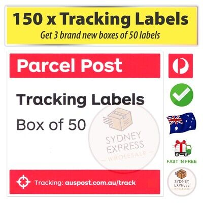 150 Australia Post tracking labels (3x Box 50) tracked delivery parcel stickers