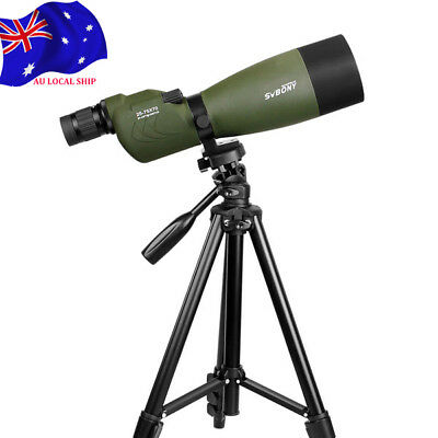 "SV17 25-75x70mmStraight Spotting Scope For Target Hunting+49""Tripod AU LOCAL New"