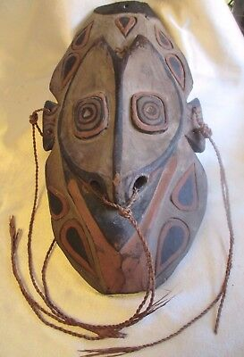 Vintage Papua New Guinea Png Sepik River Carved Painted Wooden Tribal Mask 47Cms