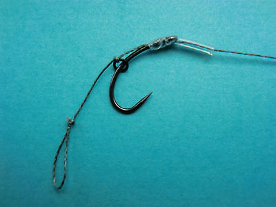 10 blow back hair rigs 25lb choose size of hook,carp course fishing hooks