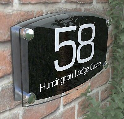 Large House Signs Plaques Door Number 1 - 999 Personlised Wall  Address - 8WB