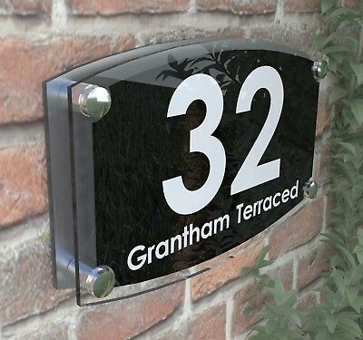 Large House Signs Plaques Door Number 1 - 999 Personlised Wall  Address - 19WB