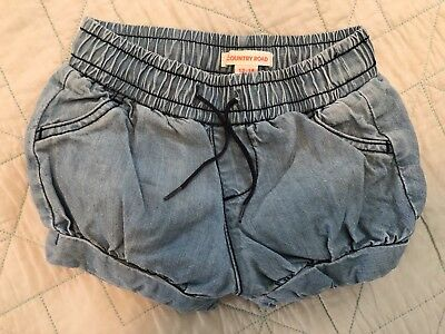 Country Road Baby Girl Chambray Shorts Size 12-18 Months