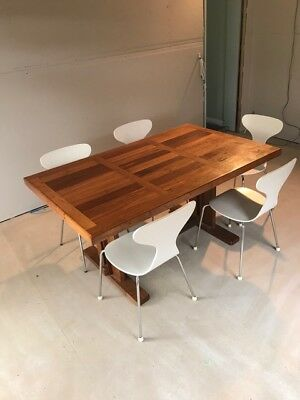 Heavy Timber Dining Table & 5 Chairs
