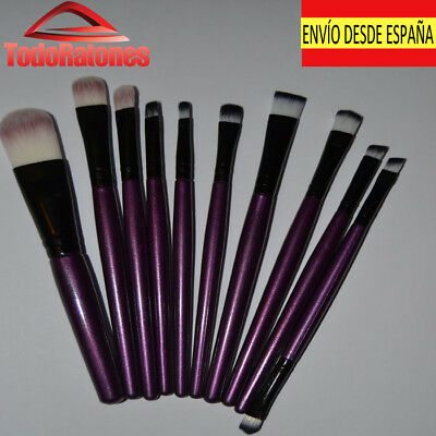 Set 10 Make-Up Cosmetic Brush Set Makeup Professional High Quality for Eyes Face