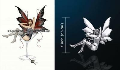 Calling The Storm Fairy pendant by artist Amy Brown Peter Stone Just Like Silver