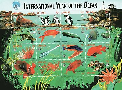 "Grenada Kleinbogen ""Year of the Ocean"""
