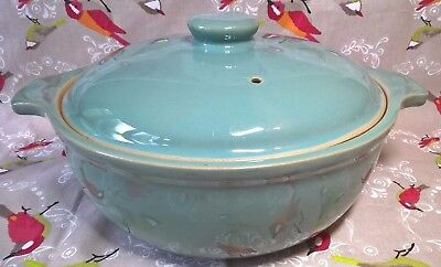 Denby Stoneware Casserole Dish with Lid 2 1/2 pint - Manor Green - Used (246)
