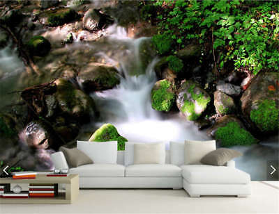 Small Stone Water Full Wall Mural Photo Wallpaper Printing 3D Decor Kids Home