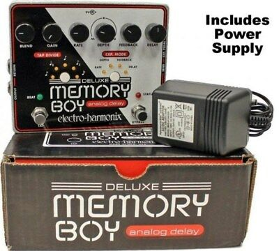 Electro Harmonix Deluxe Memory Boy Tap Tempo Analog Delay with Power Supply EHX