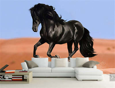 Yellow Sand And HorseFull Wall Mural Photo Wallpaper Printing 3D Decor Kids Home