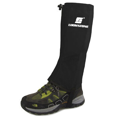 AU Waterproof Hiking Climbing Ski Gaiters Leg Cover Boot Shoes Legging Wrap