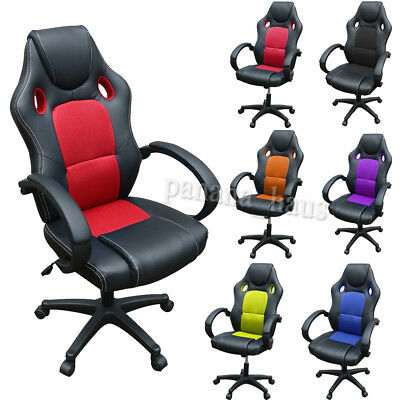 Gaming Office Chair - Computer Mesh Desk Chair Sport Racing High Back Adjustable