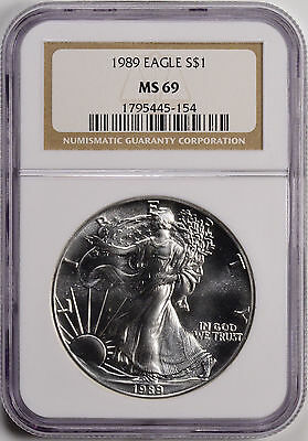 1989 $1 American Silver Eagle NGC MS69