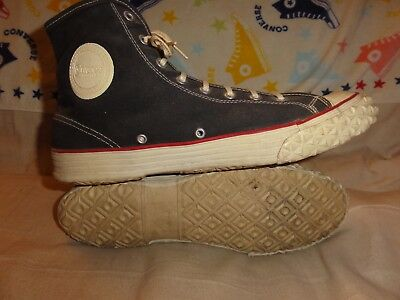 VINTAGE CONVERSE BLACK HIGH TOPS MADE IN USA SIZE 10 MENS 1930s SUPER RARE