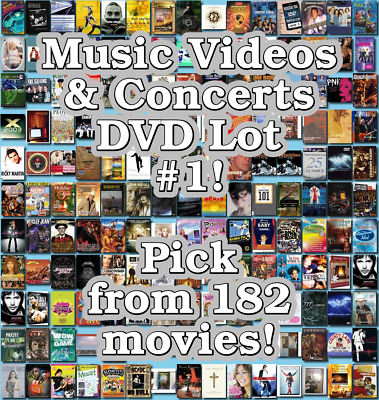 Music Videos & Concerts DVD Lot #1: Pick from 182 Items to Bundle and Save!