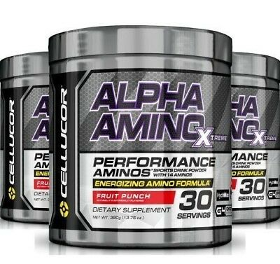 CELLUCOR ALPHA AMINO Post Workout Amino Acids Recovery BCAA Taurine Glutamine