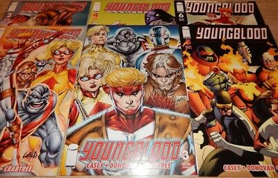 YOUNGBLOOD #1-6 (Image 2008) --> Rob Liefeld, Joe Casey, Derec Aucoin