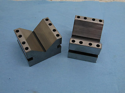 2  V-BLOCKS  2 5/8 x 1 1/4 x 2 machinist tools grinding milling