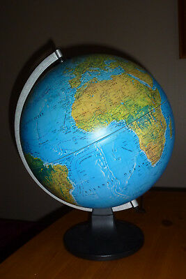 "Scanglobe Type X 14"" globe in excellent condition with light/illumination"