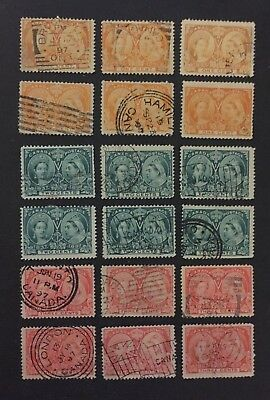 Canadian Stamp Selection of Used Jubilees