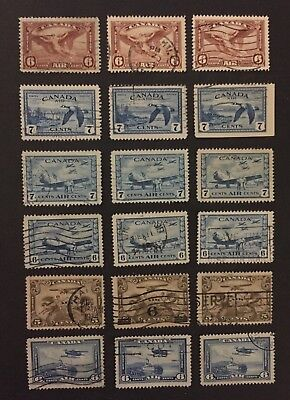 Canadian Stamp Selection of Used Air