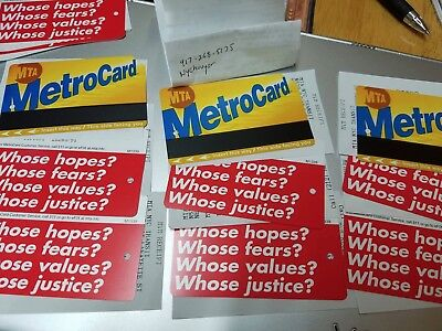 MTA BARBARA KRUGER METROCARD WHOSE HOPES FEARS only 50,000 made supreme yeezy