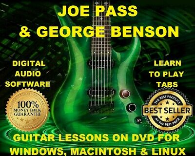 Joe Pass 54 & George Benson 36 Guitar Tabs Software Lesson CD 66 Backing Tracks
