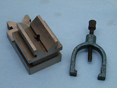 MACHINIST penn tool co. FISHTAIL V-BLOCK 3.5x1 7/8x1 7/8 with clamp
