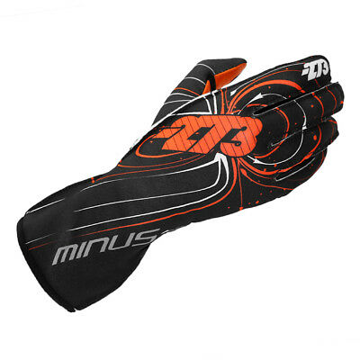 Minus 273 Kart Zero Racing Karting Gloves Handschuhe Black / Orange XS