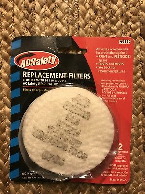 AOSafety replacement filters for use with 95110 & 95115 respirators