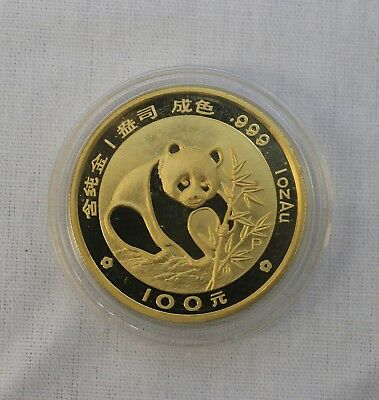 1988 1 oz Chinese Panda .999 Fine Gold Coin