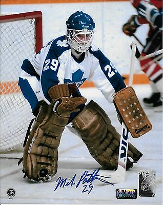 """Mike Palmateer Toronto Maple Leafs Autographed 8"""" x 10"""" Photograph -caged mask 2"""
