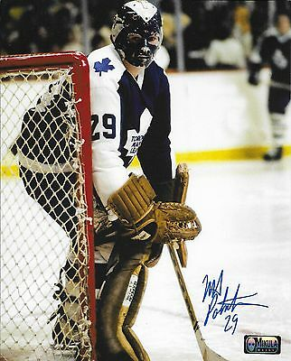 """Mike Palmateer Toronto Maple Leafs Autographed 8"""" x 10"""" Photograph (early mask)"""