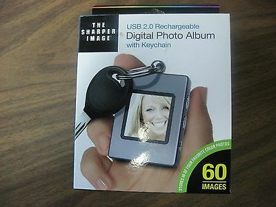 The Sharper Image Digital Photo Album With Keychain Usb 2.0 Rechagea