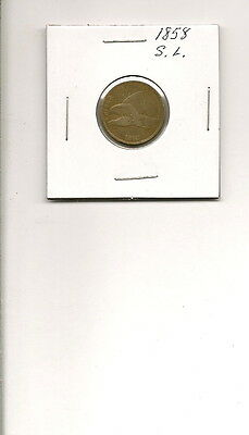 1858 S.L. Flying Eagle Cent Penny Coin!